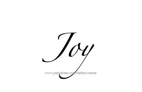 joy tattoo font joy name tattoo designs