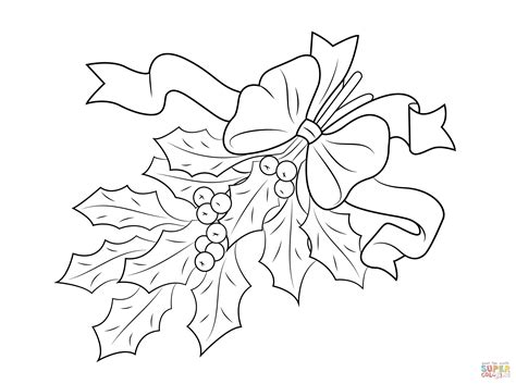 holly leaf coloring page coloring pages