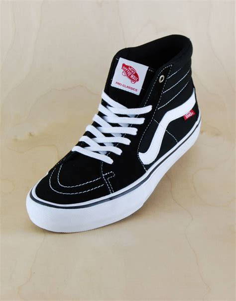 vans vans sk8 hi pro black white the point skate shop