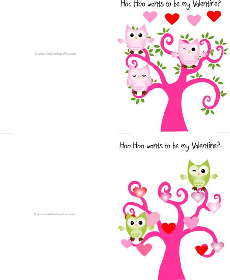 printable owl valentine cards 8 best images of free printable cards for friends free