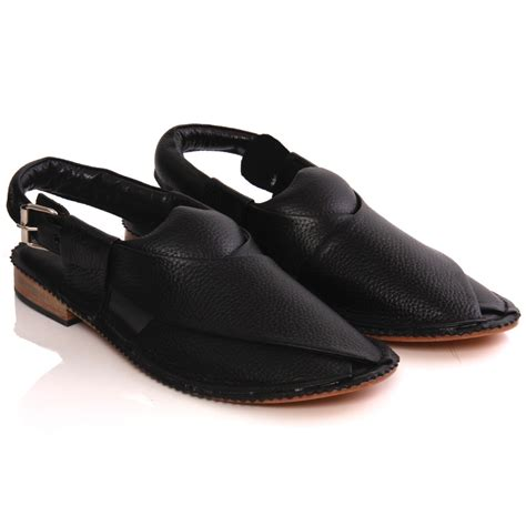 Handmade Mens Sandals - unze mens sandler handmade leather flat peshawari sandals