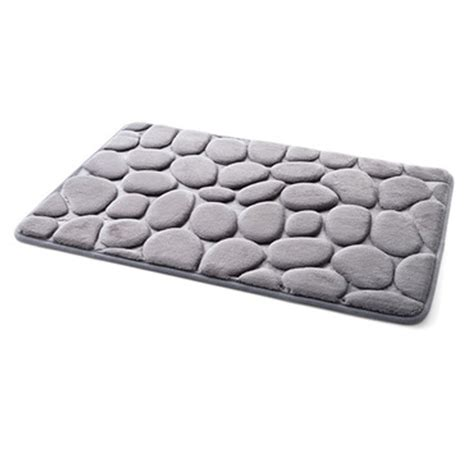 bathroom rugs non slip non slip pebble flannel bathroom bath rug foam pad mat
