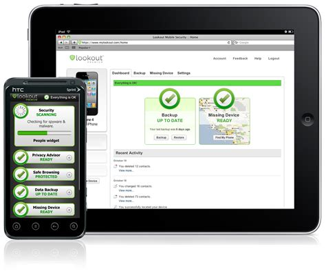 lookout for android lookout mobile security heads to tablets