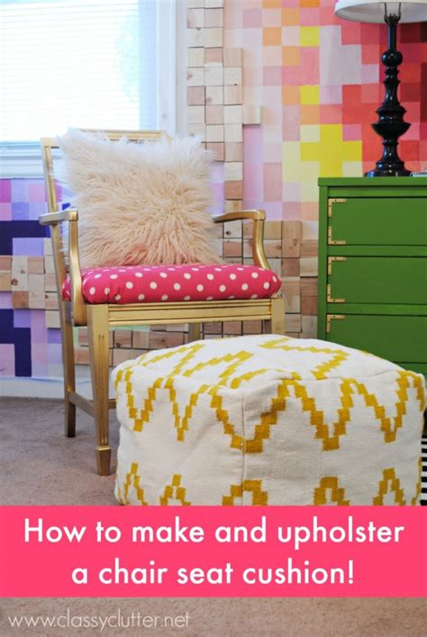 how to upholster a bench cushion how to upholster a chair cushion