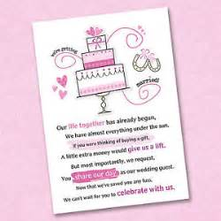 wedding gifts asking for money poems bridal shower invitations bridal shower invitations asking for money