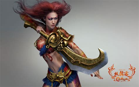 chinese online games datang warriors body painting game
