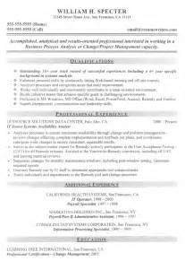 systems analyist resume sle it resume exles