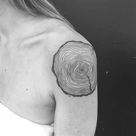 tree line tattoo tree rings i like how the artist has used thin lines to