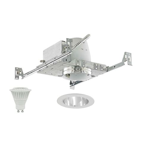 new construction led recessed lighting kit new construction non insulated 4 inch led recessed light