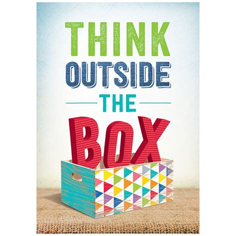 Think Outside Of The Box think outside the box inspire u poster ctp7288