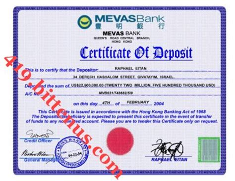 Gift Letter Icbc Certificates Of Deposit China