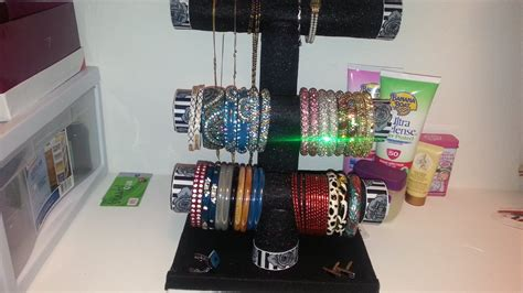 DIY   Bracelet/ Bangles/ Necklace Holder Under $5   YouTube