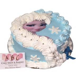 2095 elsa round cake with long frosting braid