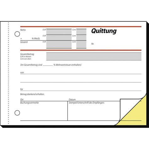 Muster Bestell Formular Formular Quittung Selbstdurchschreibend Im Conrad Shop 000775295