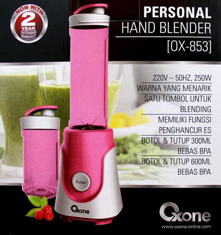 Oxone Personal Blender Ox 853 Pink Hijau oxone ox 853 personal blender avalaible 2 colors