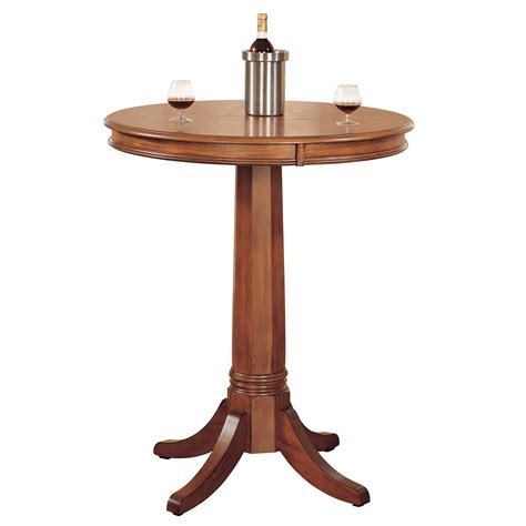 Oak Bistro Table Bellacor Item 644347 Image Zoom View