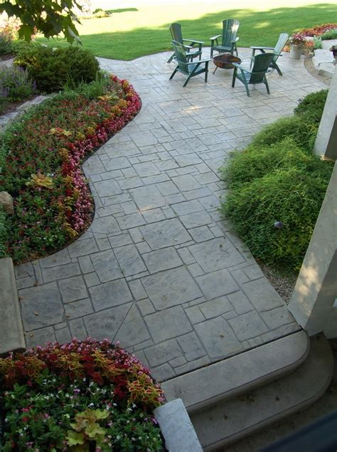 stamped concrete adds depth  beauty   exterior