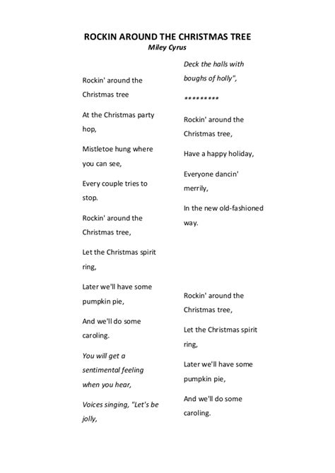 rockin around christmas tree lyrics christmas 2017