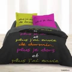 Superbe Housse De Couette Jeune #7: .housse_couette_220_x_240_couleurs_vitaminees_rose_vert_noir_avec_texte_plus_je_dors_et_plus_j_ai_envie_de_dormir_texte_imprime_parure_housse_3_pieces_pas_cher_s.jpg