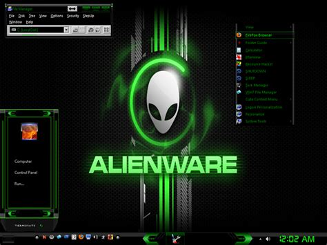 alienware themes for windows 7 green w7 alien factor green by keybrdcowboy on deviantart