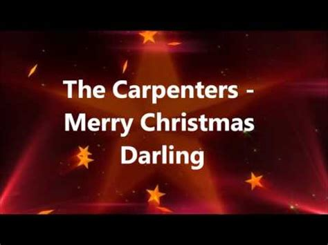 carpenters merry christmas darling youtube