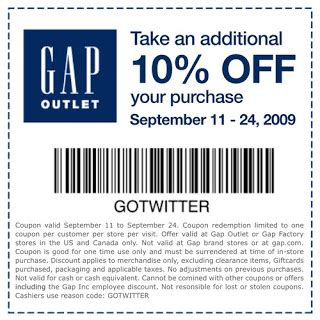 printable coupons gap outlet usa 10 off gap outlet printable coupon fun happy home