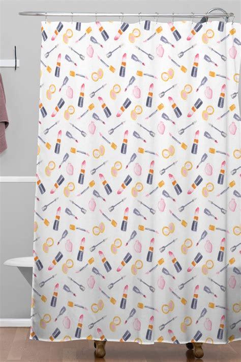 makeup shower curtain makeup madness woven shower curtain wonder forest