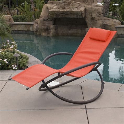 Rocking Garden Lounger Orbital Foldable Zero Gravity Lounger Chair Rocking Furniture Outdoor Chaise Ebay