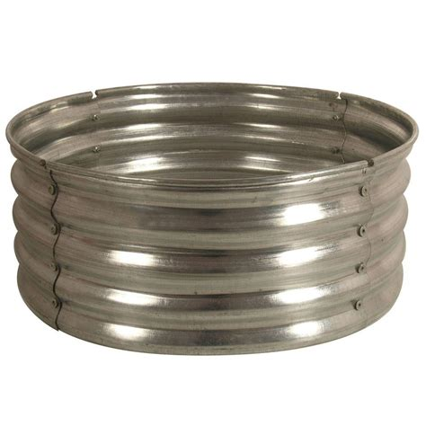 Firepit Ring 30 In Galvanized Pit Ring Ds 18727 At The Home Depot Modern Pits