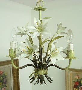 delicious white lilies shabby french chic toleware tole