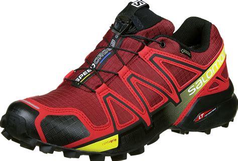 Salomon For 4 salomon speedcross 4 gtx trailrunningschuhe rot