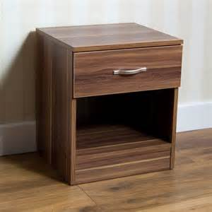 riano bedside cabinet 1 drawer metal handles runners