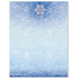 winter snow letterhead border papers paperdirect