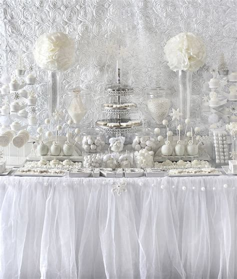 white winter themed decorations all white bridal shower ideas trueblu bridesmaid