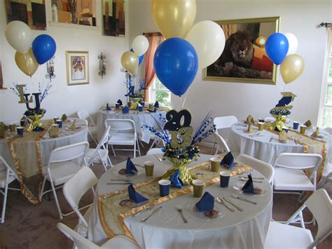 blue gold themes ideas lasalle university graduation party gold blue and cream
