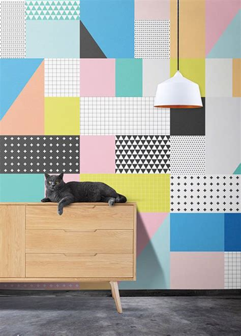 interior design color patterns 20 awesome geometric walls with vibrant colors home