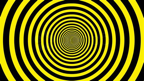 yellow and black target tunnel retro spiral animation loop yellow and