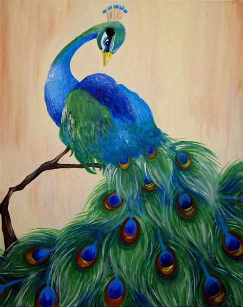 25 best ideas about peacock canvas on peacock