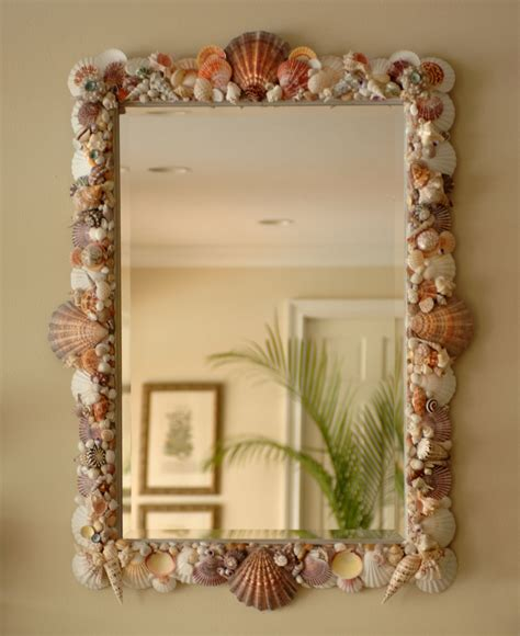 Shell Bathroom Mirror - sea shell art elegant shells