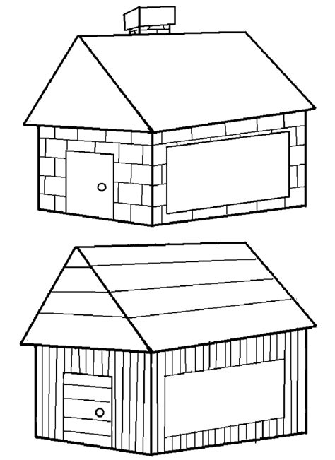 brick house coloring page three little pigs house volvoab