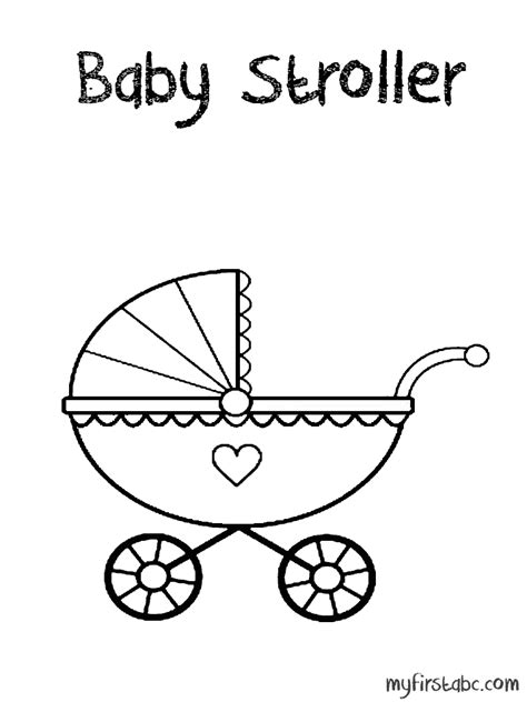 stroller colouring pages