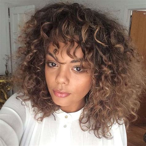 curly lob with bangs hair color ideas and styles for 2018 31 lob haircut ideas for trendy women page 2 of 3 stayglam