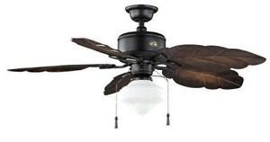 outdoor tropical ceiling fans with lights hton bay nassau indoor outdoor 52 inch tropical ceiling