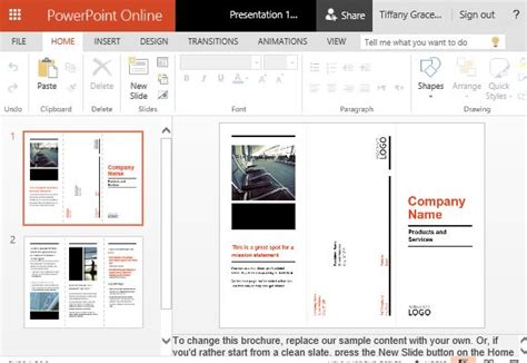 powerpoint trifold template business brochure powerpoint templates