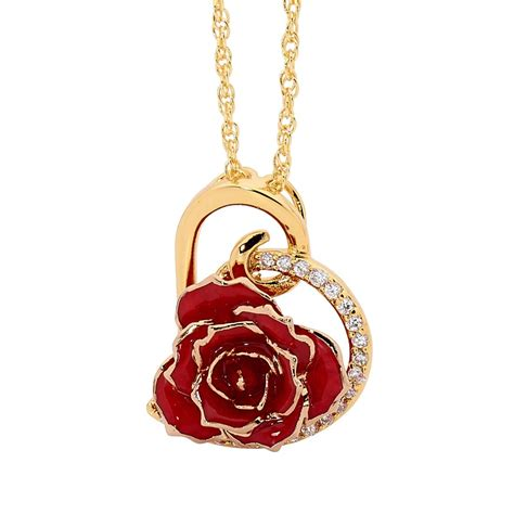 gold jewellery themes gold dipped rose red matched jewellery set in heart theme
