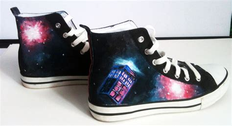 dr who sneakers doctor who shoes 1 by tchuff on deviantart