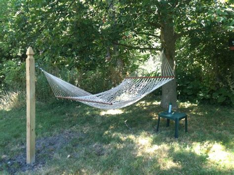 How To Hang A Hammock From A Tree how to hang a hammock without a tree search