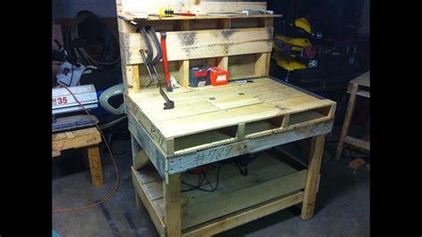 pallet work bench youtube