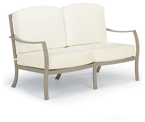 milano outdoor loveseat with cushions frontgate patio