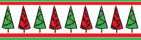 stock illustration  row  red  green christmas trees   banner